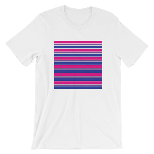 Bisexual Stripes Short-Sleeve Unisex T-Shirt - LGBTQ Pride, Shirts, HEED THE HUM