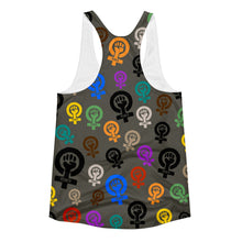 Feminist Power Woman's Cut Racerback Tank, Shirts, HEED THE HUM