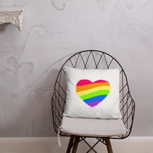Rainbow Pride Flag Square Throw Pillow, Pillow, HEED THE HUM