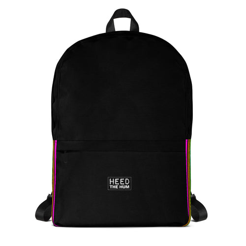 LGBTQIA+ Rainbow Pride Striped Backpack, backpack, HEED THE HUM