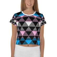 Trans Pride Flag Crop Top All-Over Print Shirt, Shirts, HEED THE HUM