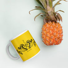 Yellow Fish Kiss Mug, Mug, HEED THE HUM