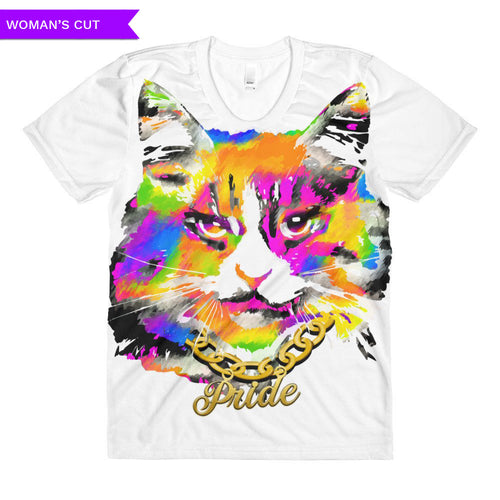 Pussy Pride Woman's Cut All-Over Pride T-shirt, Shirts, HEED THE HUM