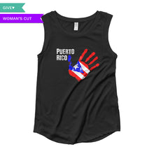 Puerto Rico Relief Women's Cap Sleeve Shirt, , HEED THE HUM