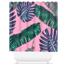 Pink and Palm Shower Curtain | numinous.co