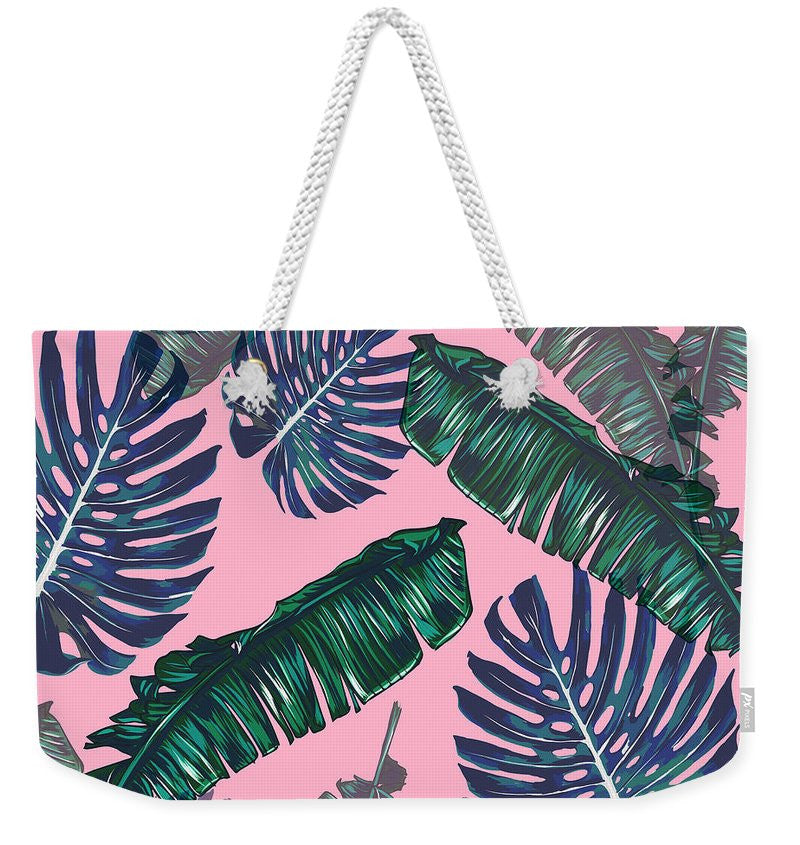 Pink And Palms Beach Bag | numinous.co