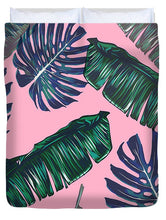 Pink And Palms Duvet Cover | numinous.co