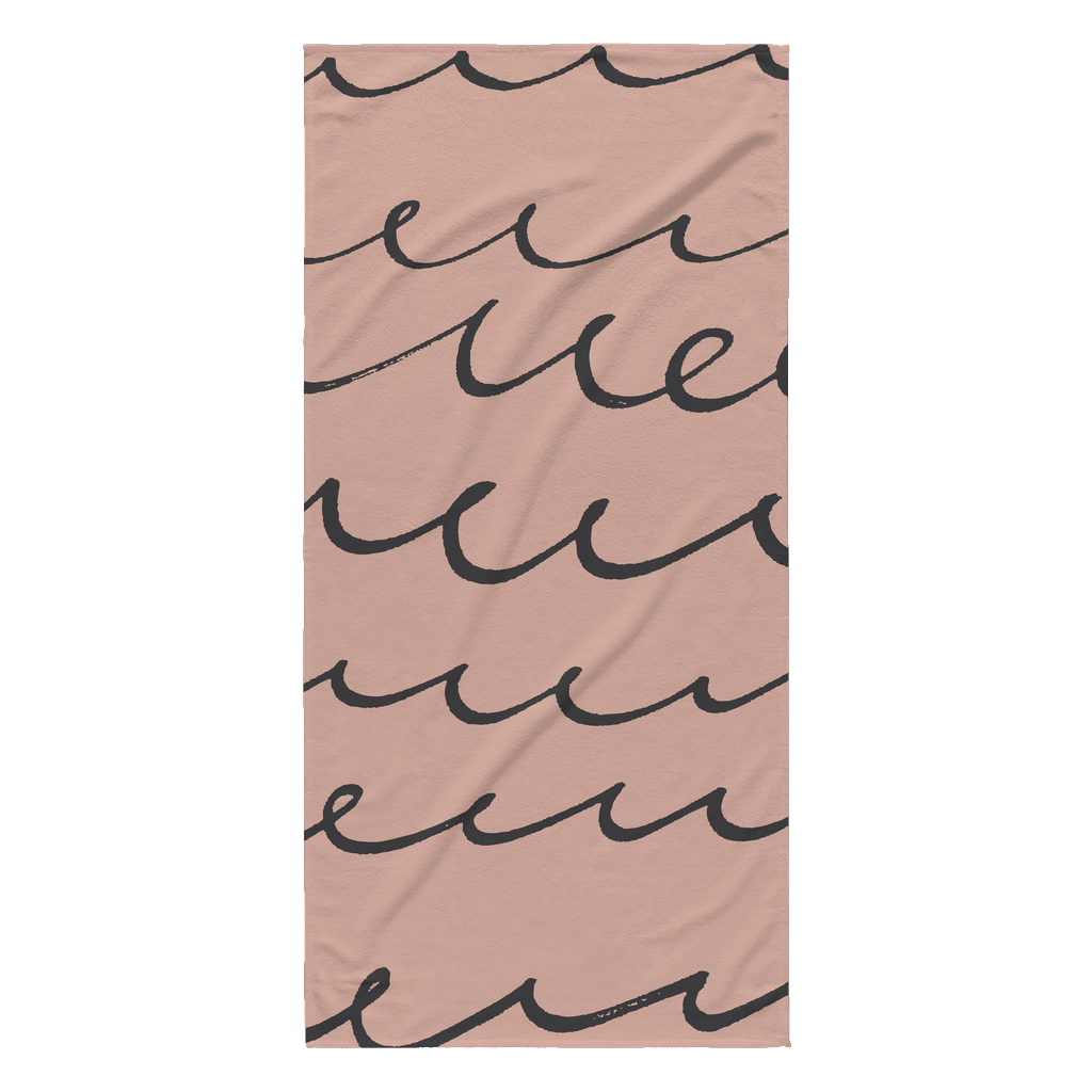 Coral Waves Beach Towel | numinous.co