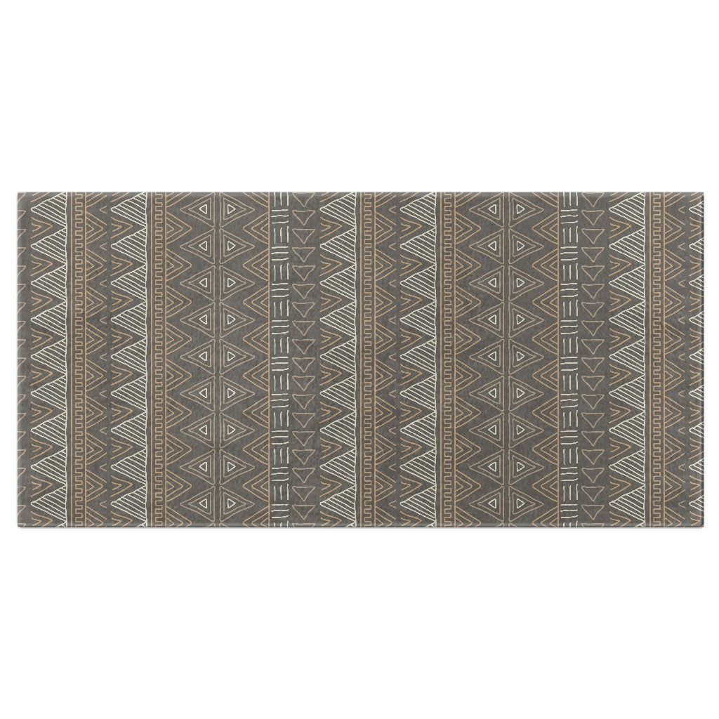 Brown African Mud Cloth Bath Towel | numinous.co