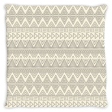 Cream African Mud Cloth Throw Pillow
