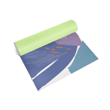 Designer Yoga Mat - Abstract Summer Rolled