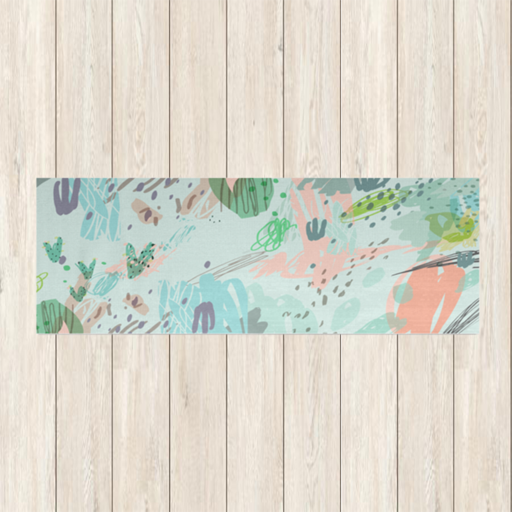 Abstract Garden Party Yoga Mat | numinous.co