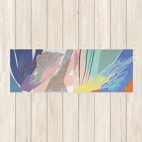 Abstract Summer Yoga Mat | numinous.co
