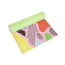 Color Pools Pattern Yoga Mat Rolled
