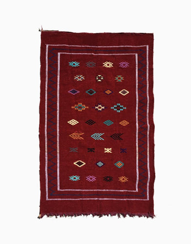 Burgundy Moroccan Kilim Rug | numinous.co