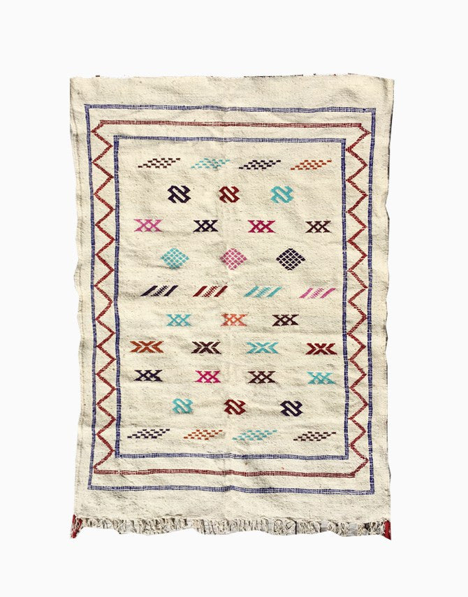 Cream Moroccan Kilim Rug | numinous.co