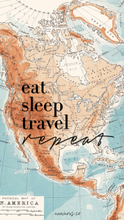Eat Sleep Travel Repeat Tank | numinous.co