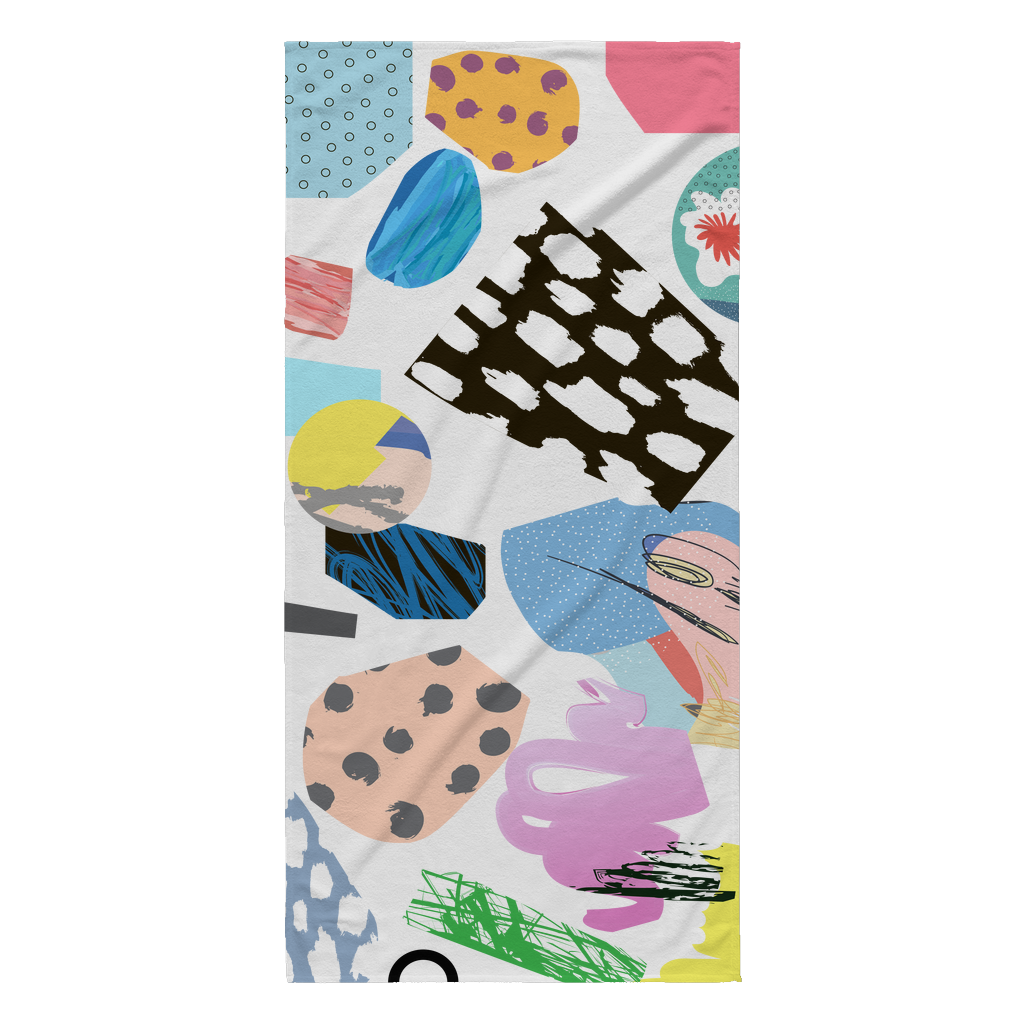 Abstract Summer Beach Towel | numinous.co