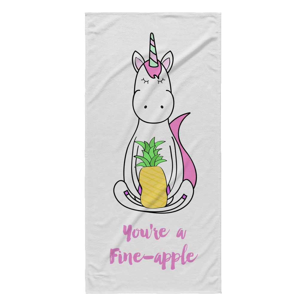 You're a Fine-Apple Unicorn Beach Towel | numinous.co