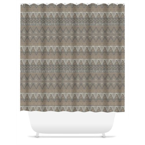 Brown African Mud Cloth Shower Curtain | numinous.co