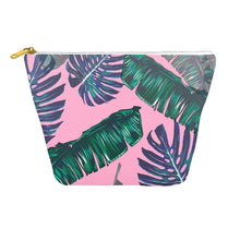 Pink and Palms Cosmetic Bag | numinous.co