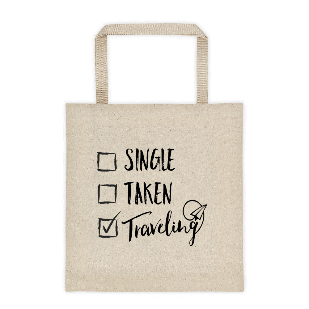 Single Taken Traveling Tote Bag | numinous.co