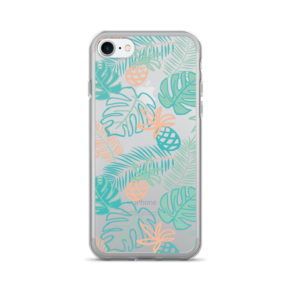 Peaches and Green Palm iPhone 7/7 Plus Case | numinous.co
