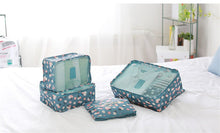 6 Piece Blue Daisy Packing Cube Set | numinous.co