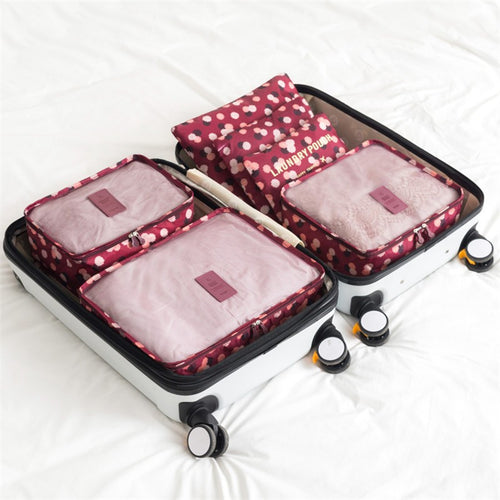 6 Piece Wine Daisy Packing Cube Set | numinous.co