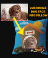 Personalized Dog Face Pillow