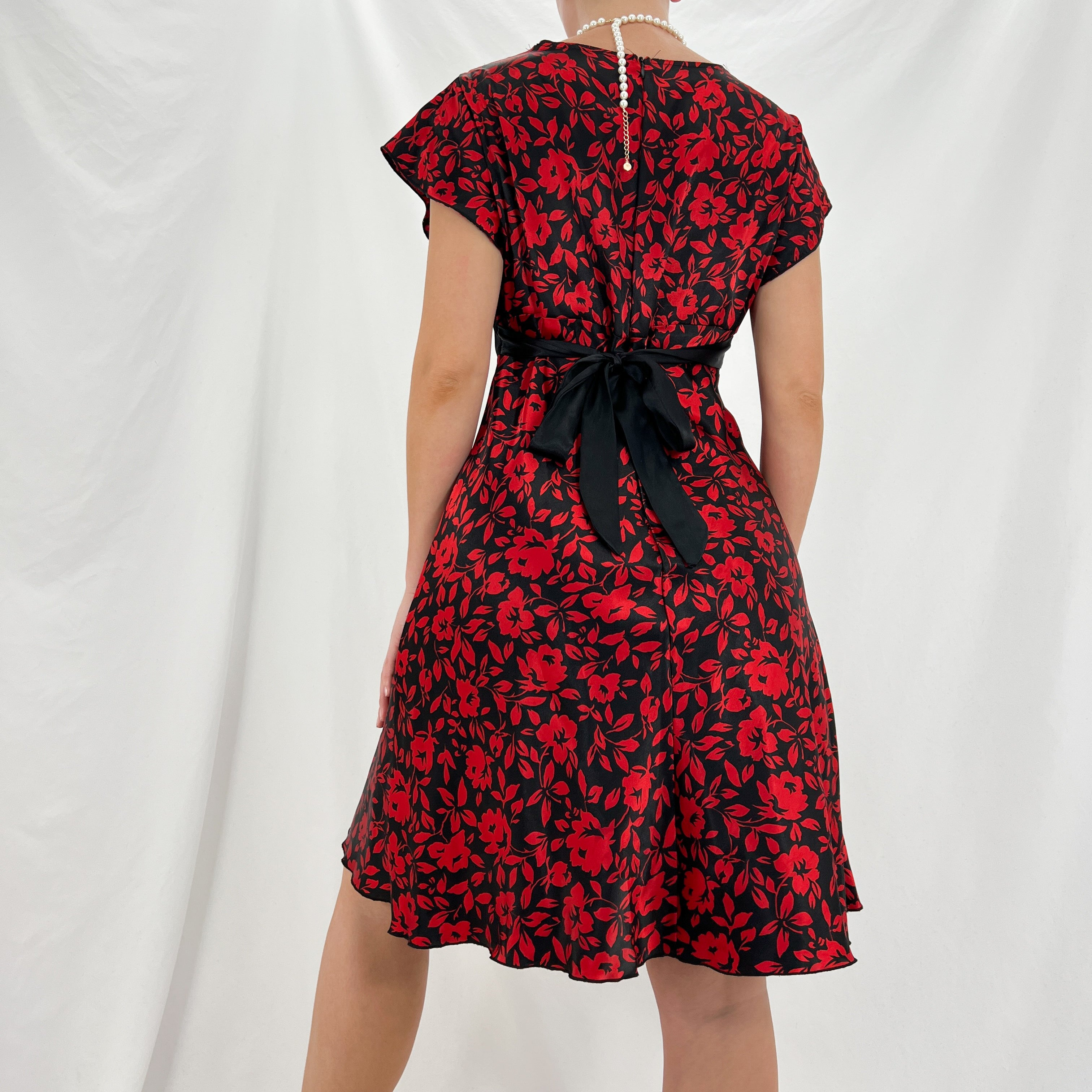 Y2k Black V-Neck Dress [M]