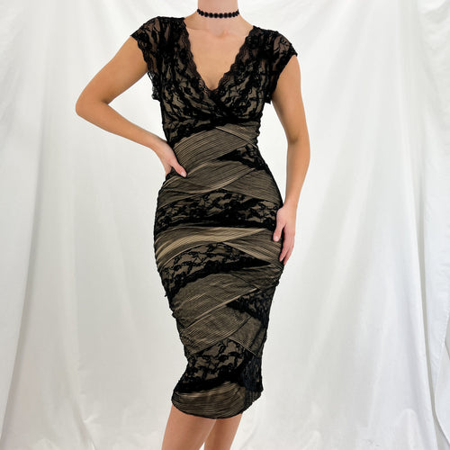 Grey Sparkle Velvet Skirt [L]