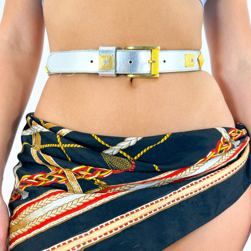 90s Brown Double Breasted Ombre Plaid Suit [S]