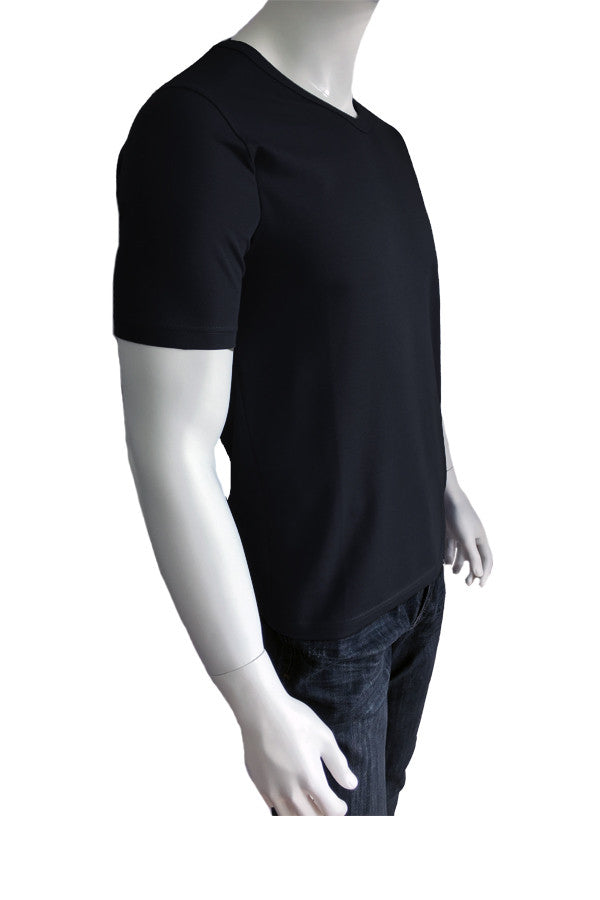 V Neck Tee - Black (Thick)