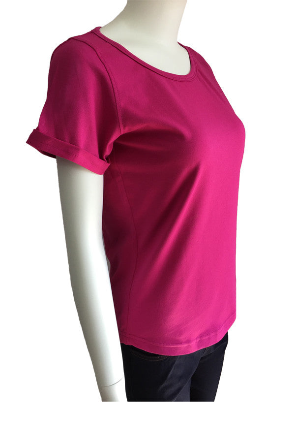 Scoop Neck Tee - Magenta