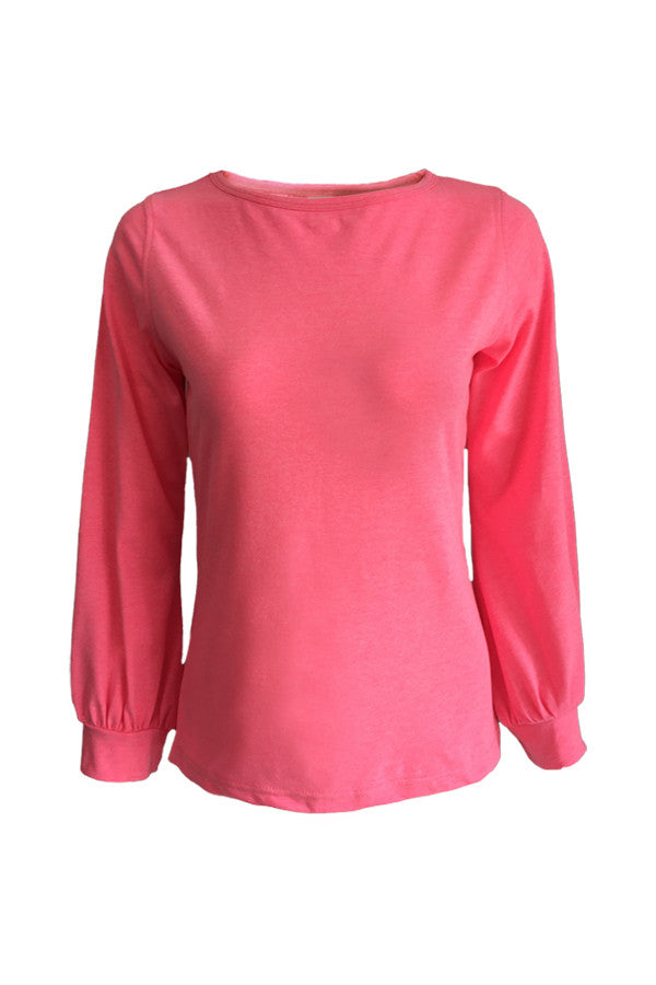 Long Sleeve Blouse - Pink