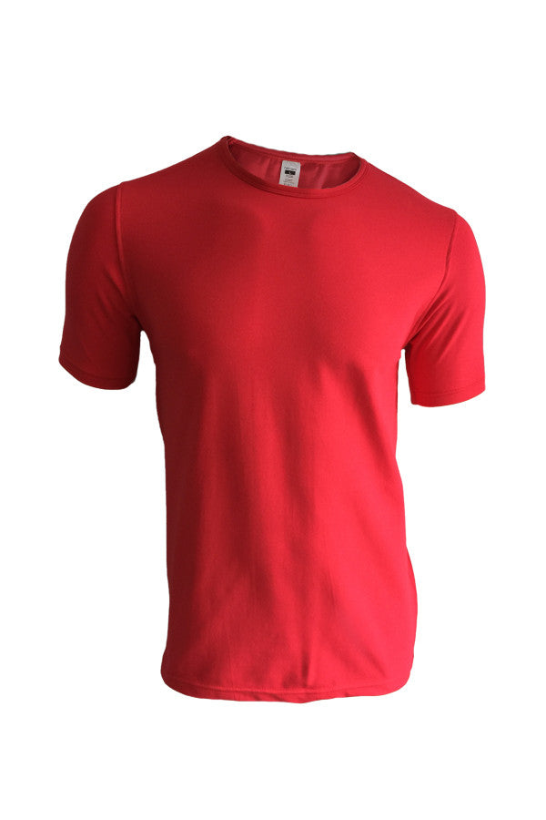 Crew Neck Tee - Red (Thick)