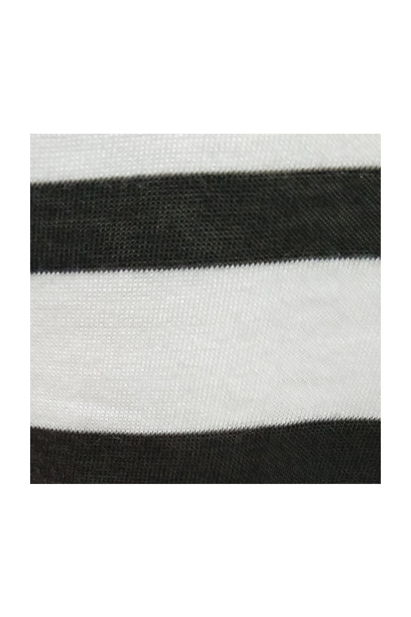 Long Sleeve V Neck Tee - Stripes