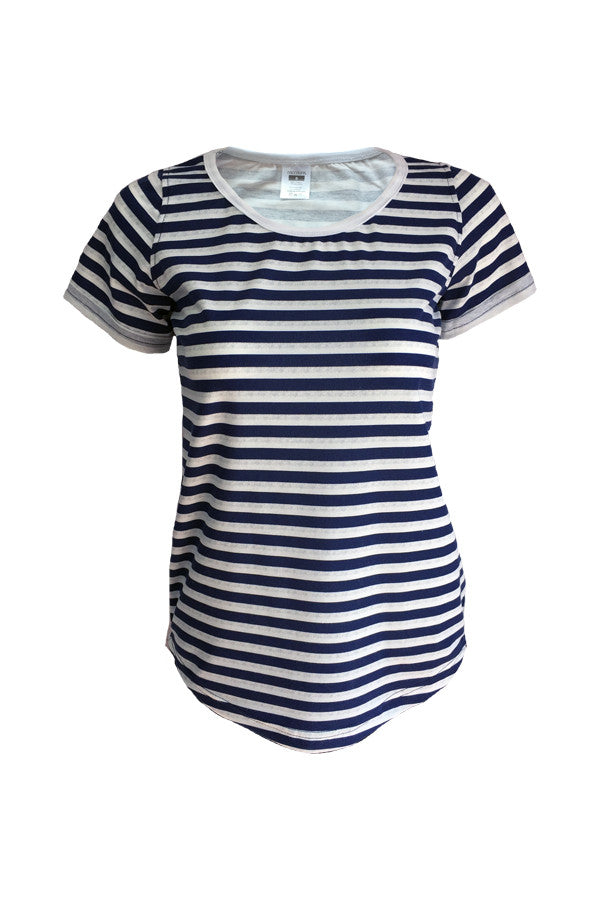 Scoop Neck Tee - Stripes