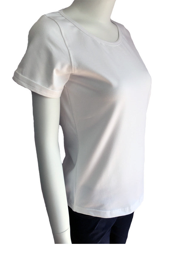 Scoop Neck Tee - White (Thick)