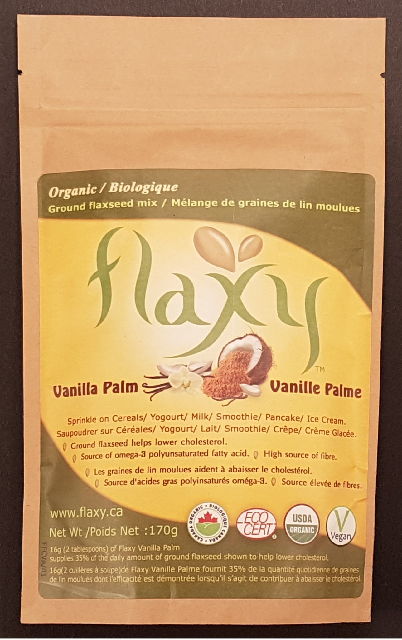 Flaxy - Vanilla Palm Organic - Flaxy