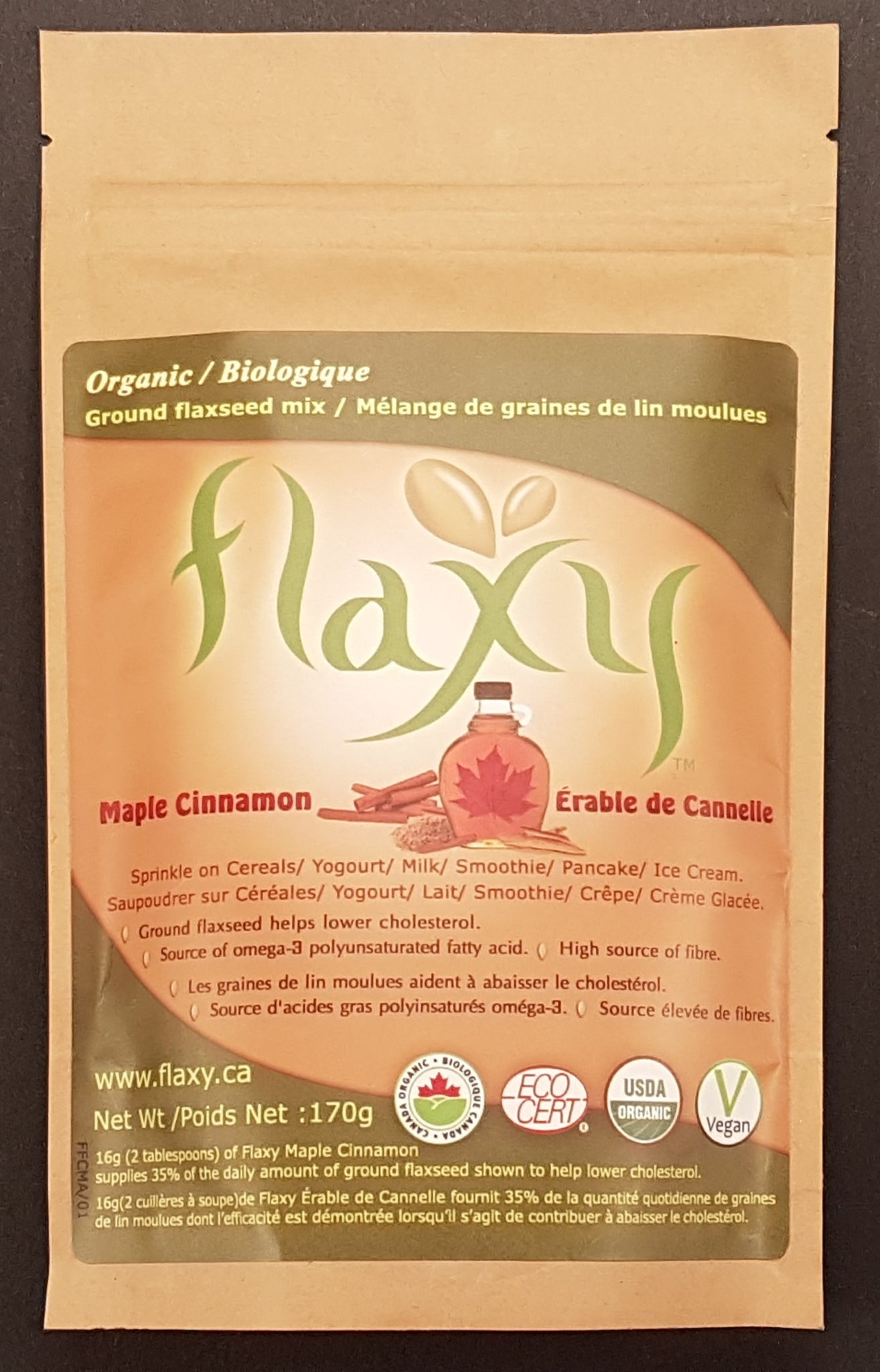 Flaxy - Maple Cinnamon Organic - Flaxy