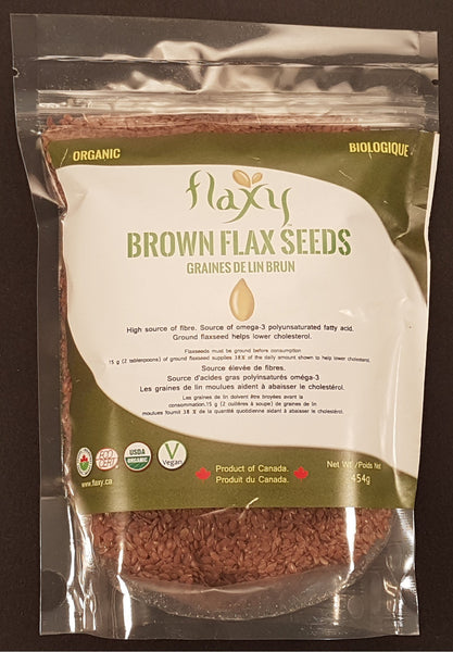 Flaxy -  Brown Flax Seed Organic 1lb - Flaxy