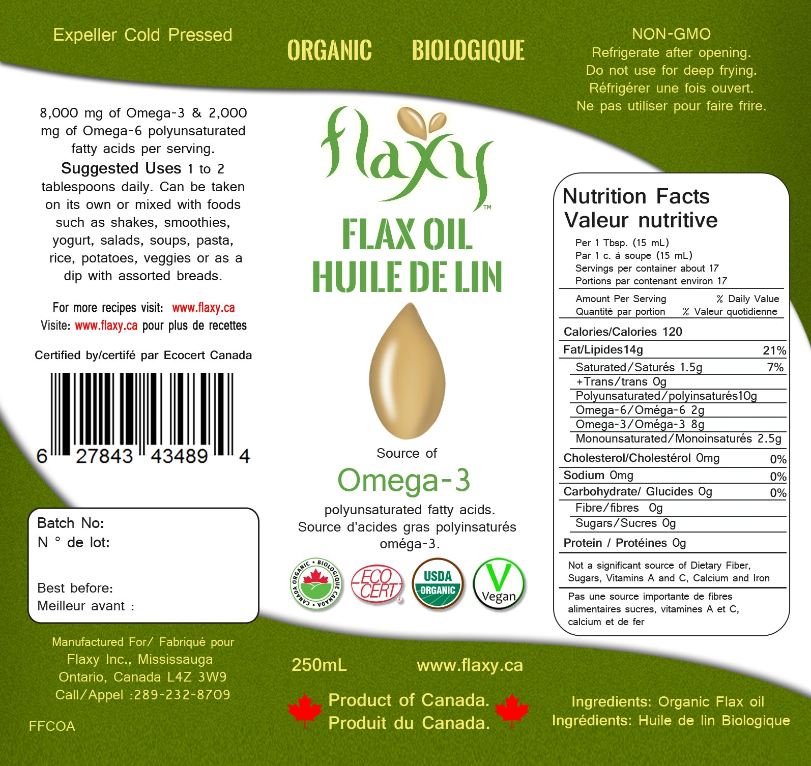 Flaxy - Flax Oil Organic