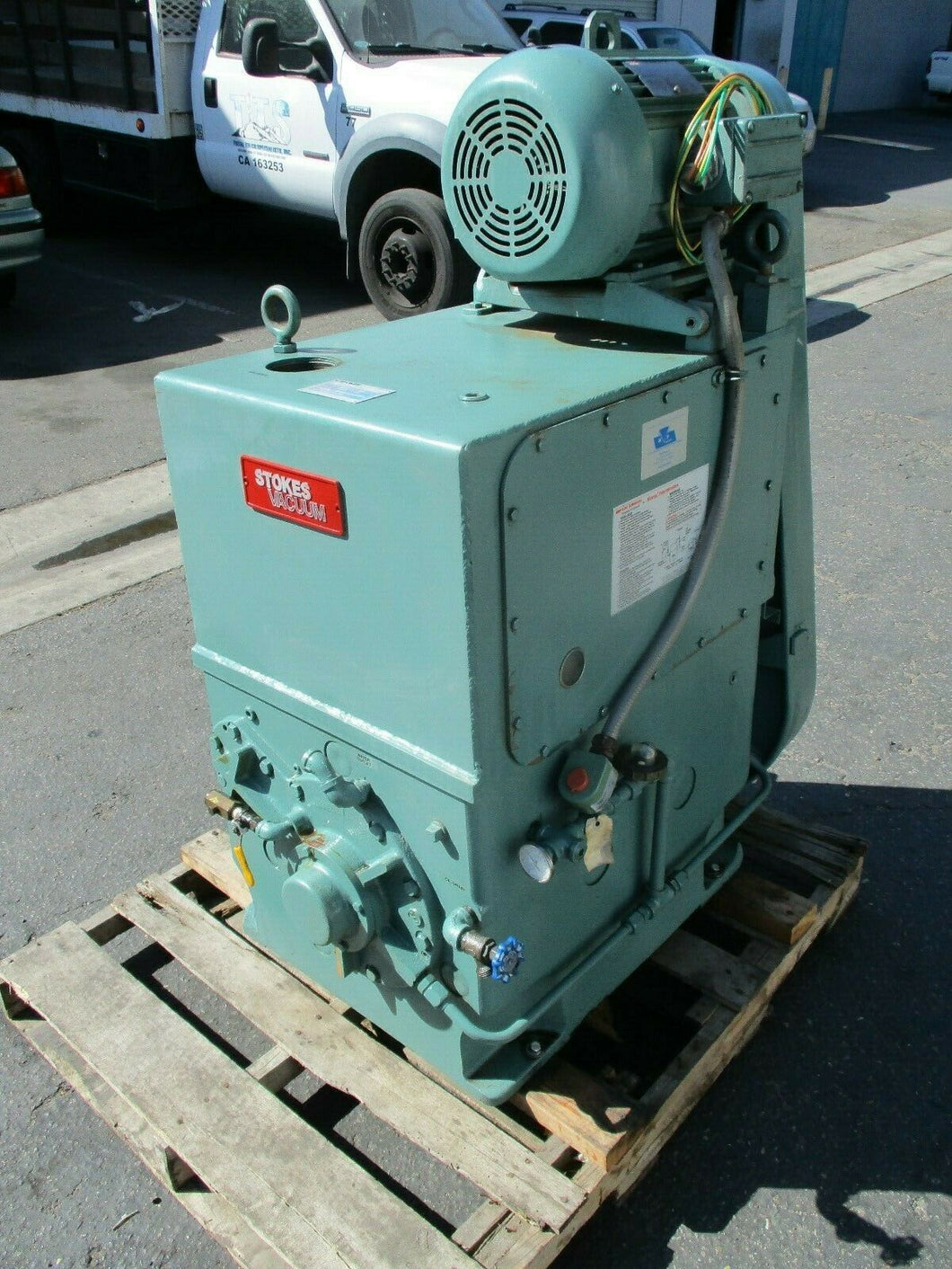STOKES 10 HP MODEL 412-11 MICROVAC ROTARY PISTON VACUUM PUMP