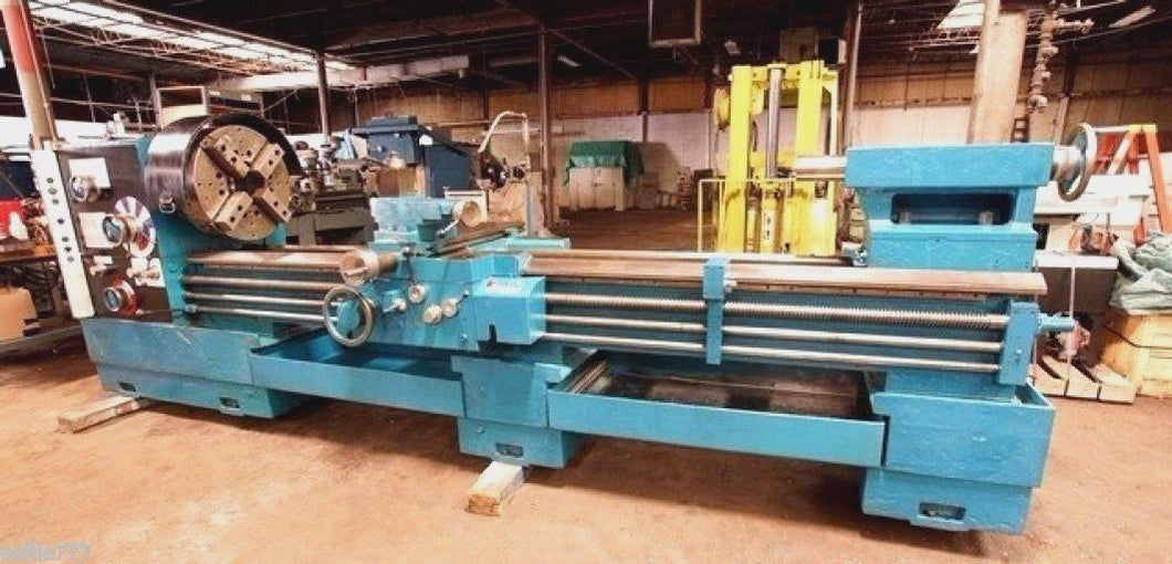 LANSING G-28 HOLLOW SPINDLE ENGINE LATHE 9 1/4
