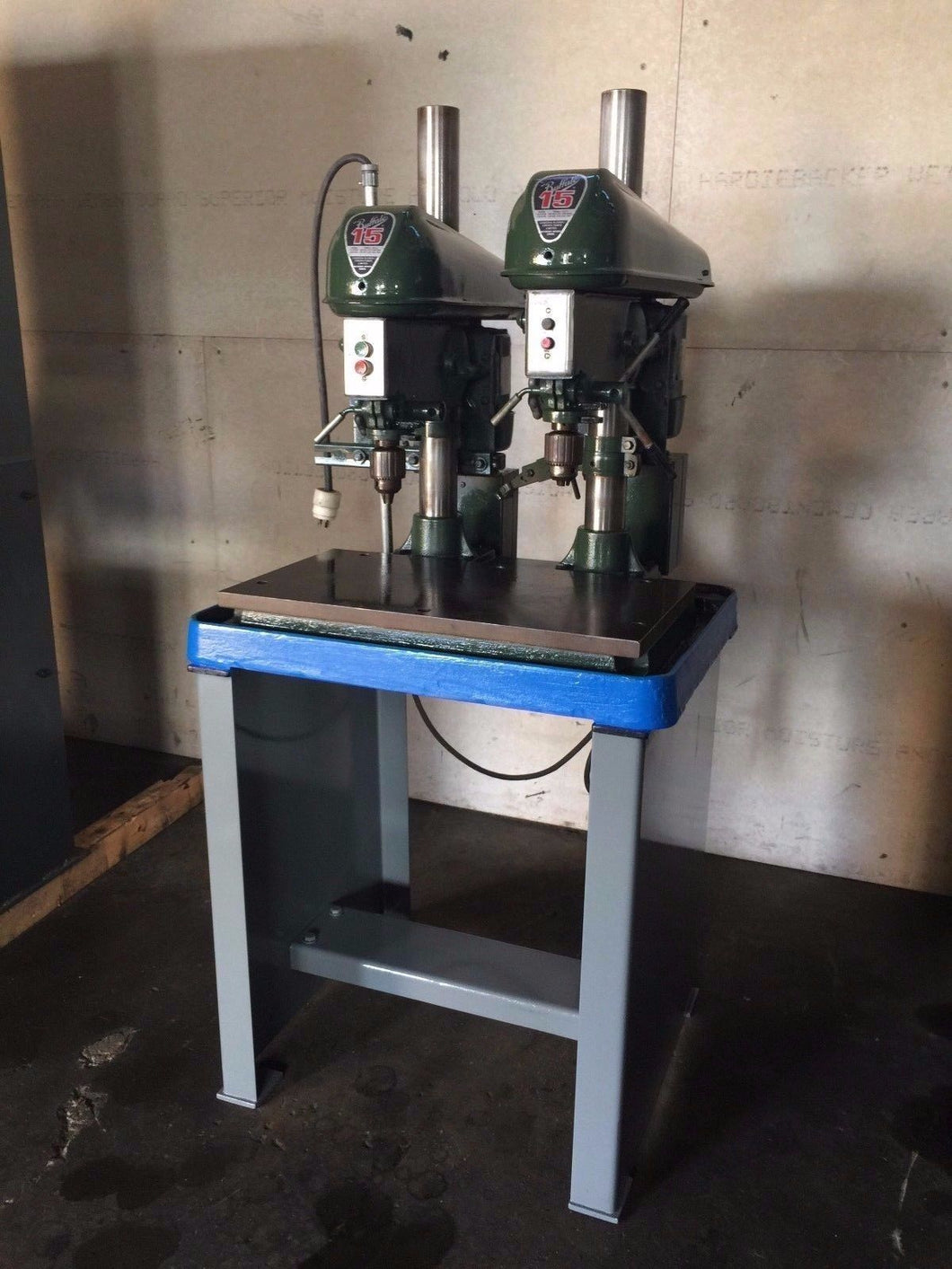 BULLAFO 15 INCH HEAVY DUTY DUAL HEAD DRILL PRESS (OC768)