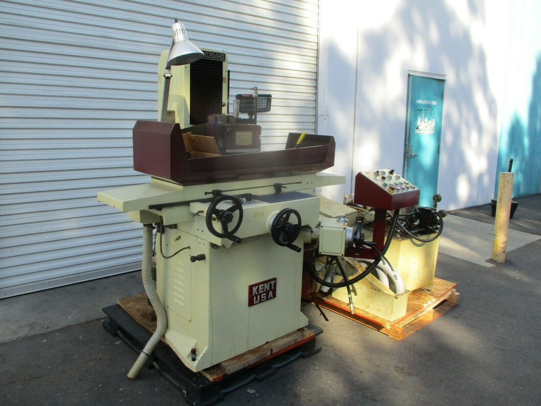 KENT MODEL SGS-1020AHD 10x20 AUTOMATIC 3 AXIS SURFACE GRINDER WITH DRO IMPECABLE