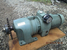 TSUBAKI DISCO TYPE DK00...MT10 + GEAR REDUCER + 3 PHASE MOTOR_LOOKS GOOD_AS-IS!