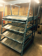 GRAVITY FLOW RACKS / APPROXIMATE 28 SECTION . / SELLING EACH SECTION SEPARATELY